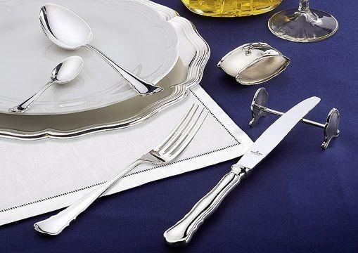 Wilkens Besteck Chippendale 180 g Royal-versilbert Fleischgabel
