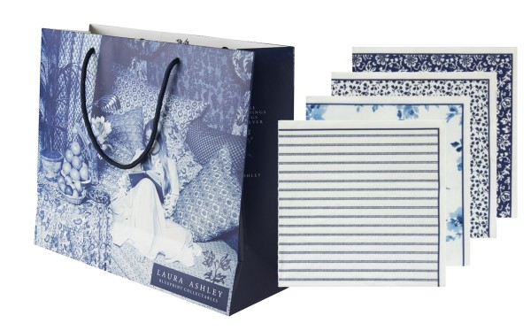 Laura Ashley Shopper inkl. Servietten Set mit 20 Stück sortiert