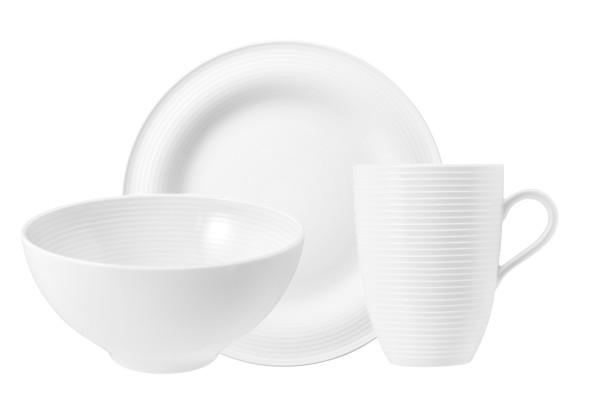 Seltmann Porzellan Beat Weiß Frühstücksservice 12-teilig