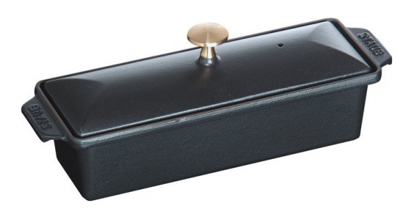 Staub Spezialitäten Terrinenform rechteckig 30x11cm schwarz