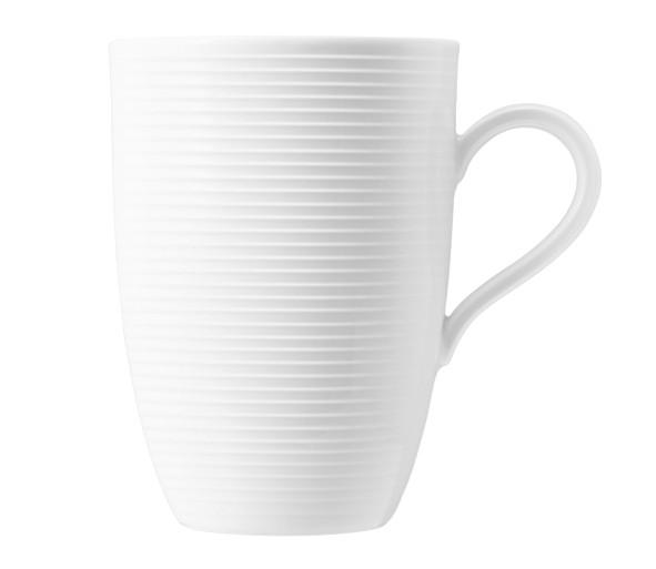 Seltmann Porzellan Beat Weiß Becher mit Henkel 0,45 l