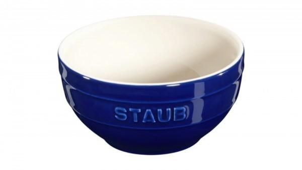Staub France Keramik Rührschüssel Dunkelblau 12cm rund