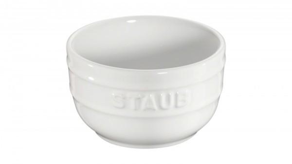 Staub France Keramik Förmchenset, 2-tlg. Reinweiß 8cm rund