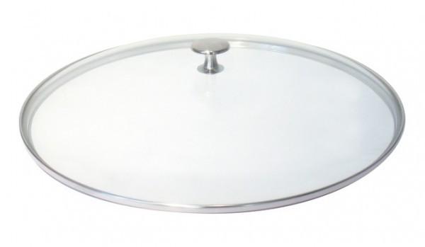 Staub Zubehör Glasdeckel flach Nickelknauf 30 cm