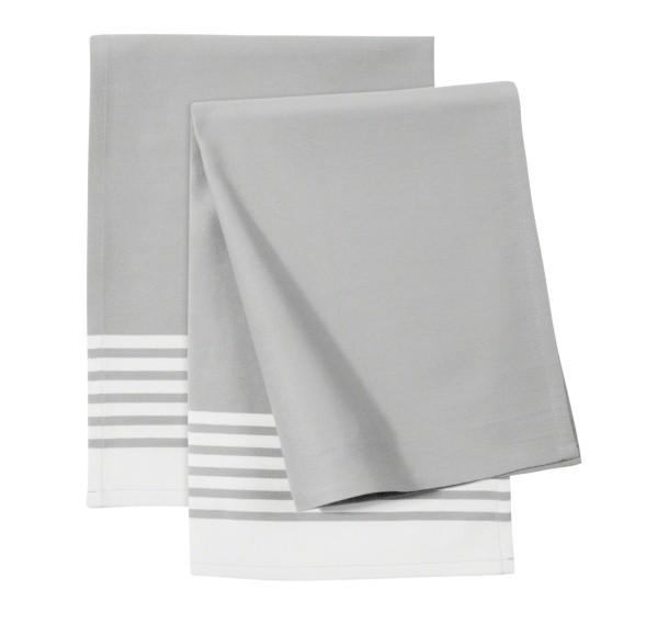 Zwilling Textilien Küchenhandtuch 2tlg grau gestreift