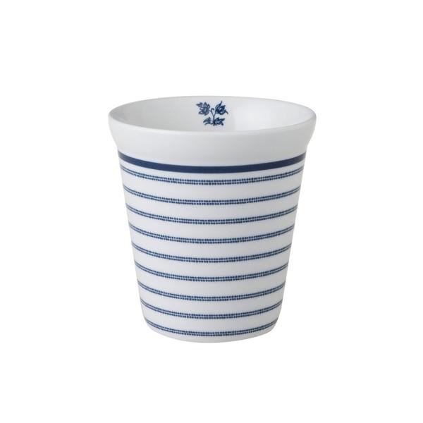 Laura Ashley Blueprint Porzellan Becher ohne Henkel Candy Stripe 27 cl