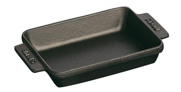 Staub Mini Formen Mini Auflaufform rechteckig 15x11cm schwarz