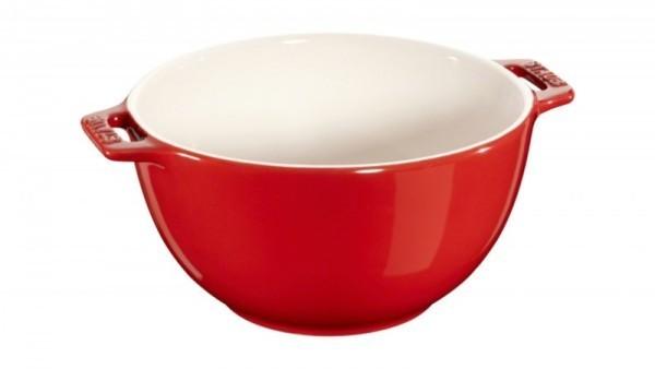 Staub France Keramik Salatschüssel Kirschrot 18cm rund