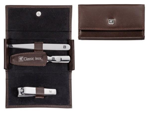 Zwilling Maniküre Etui Classic Taschen-Etui, Rindleder, braun, 3-tlg.