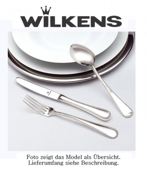 Wilkens Besteck Sterlingsilber Perlstab Louis XVI Dessertgabel