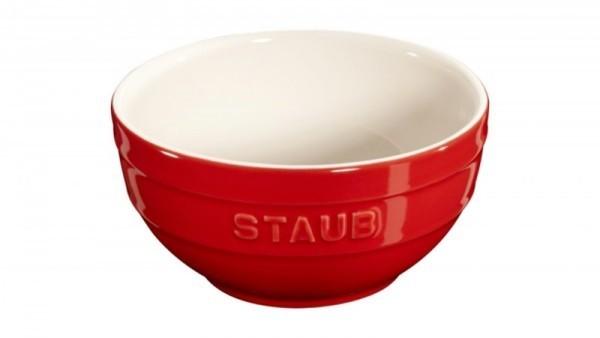 Staub France Keramik Rührschüssel Kirschrot 12cm rund