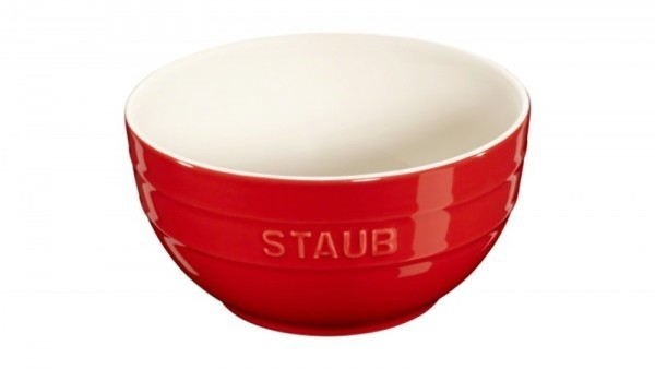 Staub France Keramik Rührschüssel Kirschrot 17cm rund
