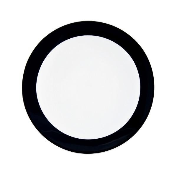 Seltmann Porzellan Meran schwarz Teller flach 5197 17,5 cm