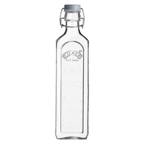 Kilner Glasflasche mit Bügelverschluß eckig 1000 ml