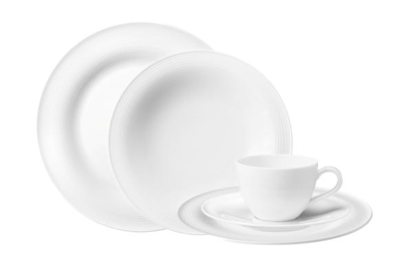 Seltmann Porzellan Beat Weiß Kombiservice 20-teilig