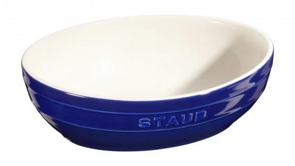 Staub France Keramik Schüssel Set, 2-tlg. Dunkelblau 23 & 27cm oval