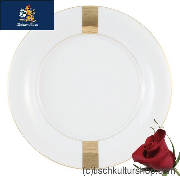 Königlich Tettau Jade Macao Frühstücksteller 21 cm Fahne