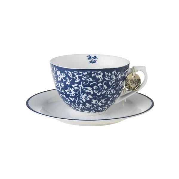Laura Ashley Blueprint Porzellan Cappuccino Tasse & Untertasse Sweet Allysum