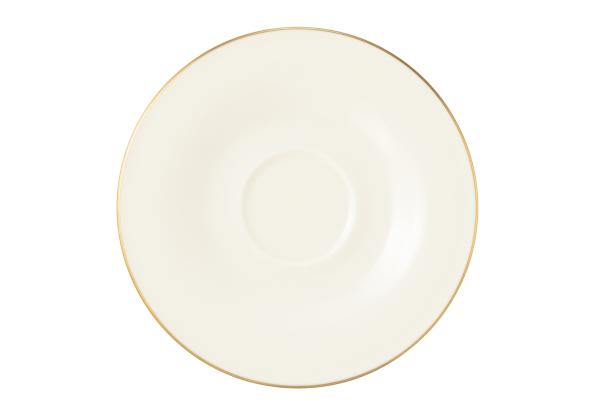 Seltmann Porzellan Medina Gold Kombi-Untertasse klein 13,5 cm