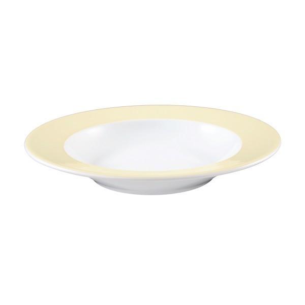 Seltmann Porzellan Meran vanille Teller tief 23 cm Fahne
