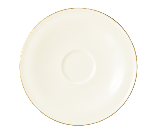 Seltmann Porzellan Medina Gold Kombi-Untertasse groß 16,5 cm
