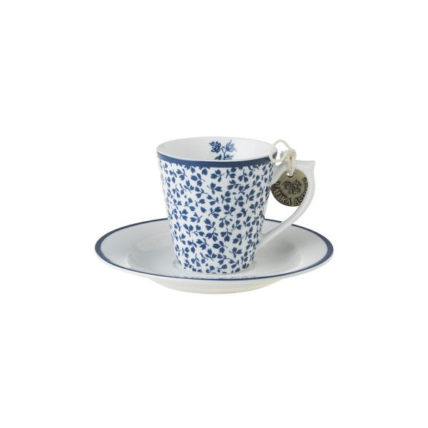 Laura Ashley Blueprint Porzellan Espresso Tasse & Untertasse Floris