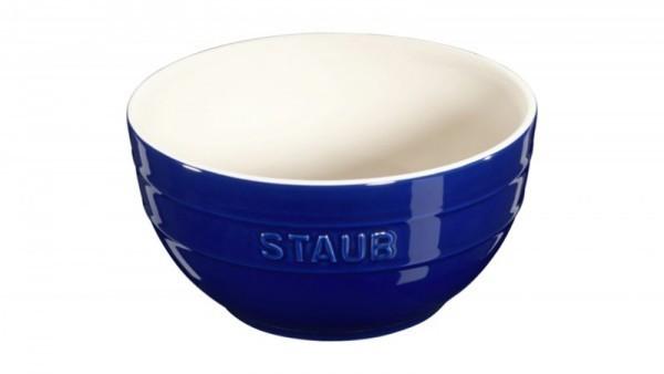 Staub France Keramik Rührschüssel Dunkelblau 17cm rund