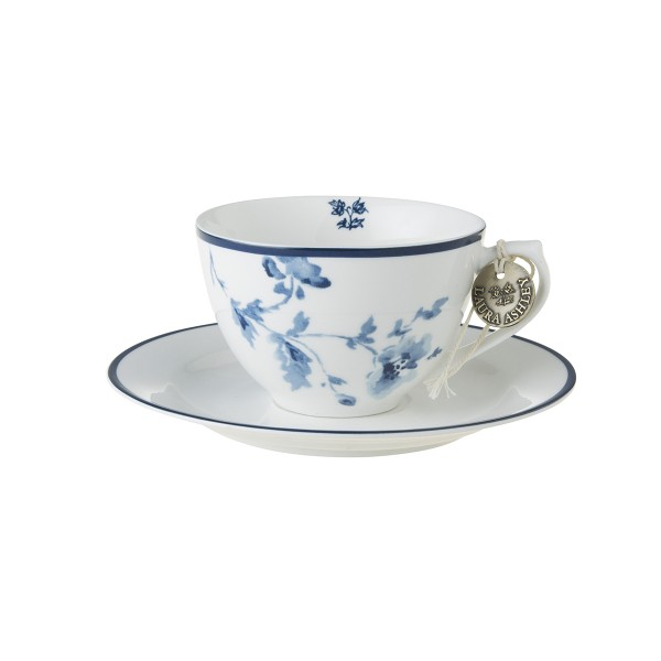 Laura Ashley Blueprint Porzellan Cappuccino Tasse & Untertasse China Rose
